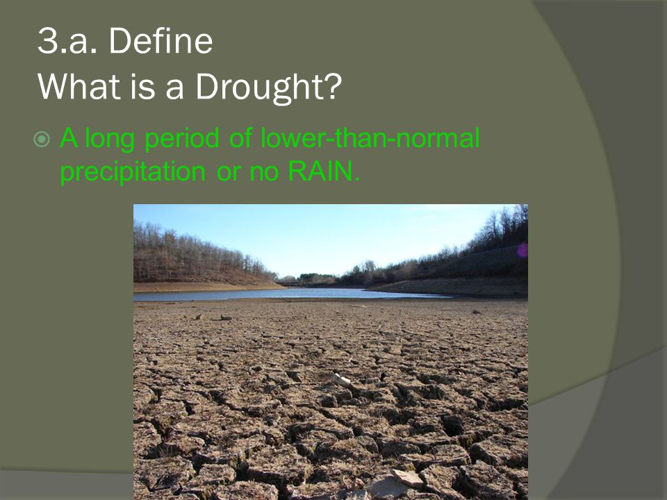 3.a. Define What is a Drought