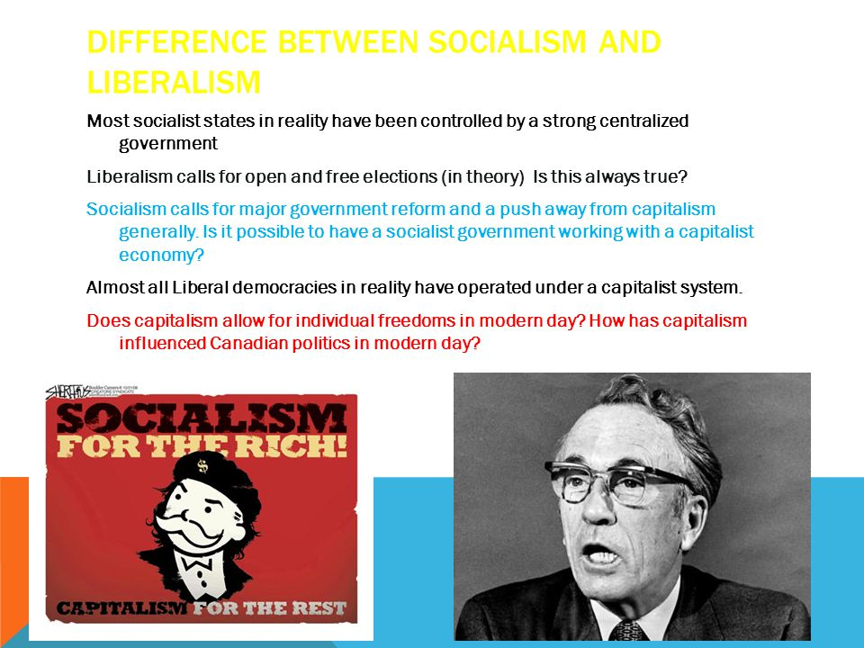 Difference between socialism and liberalism