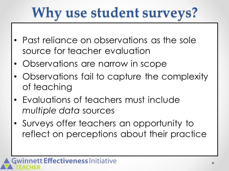 Why use student surveys