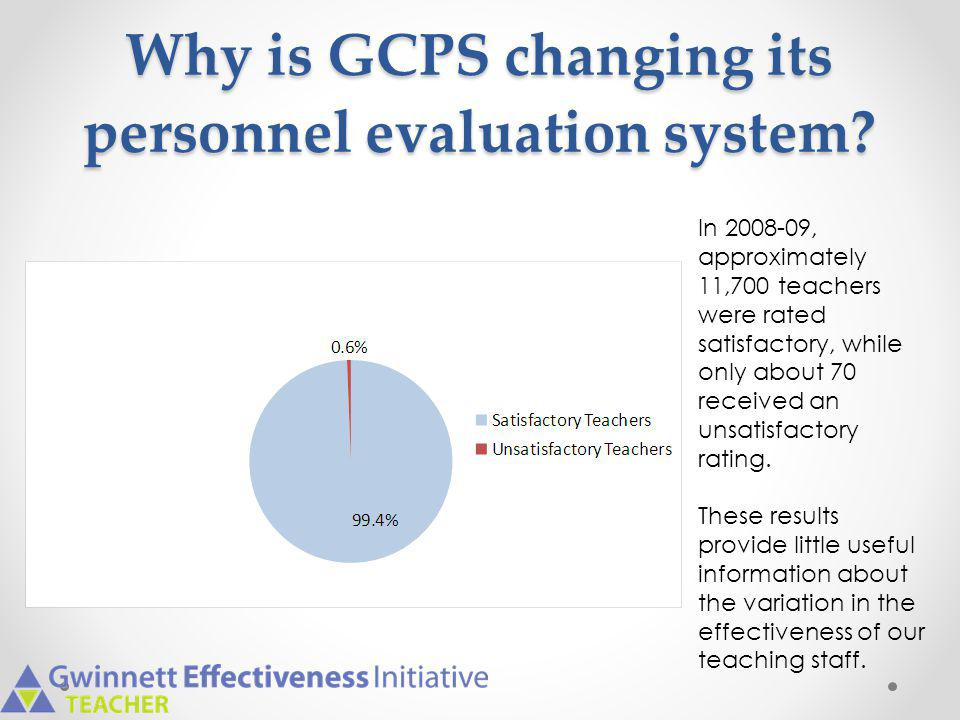 Why is GCPS changing its personnel evaluation system