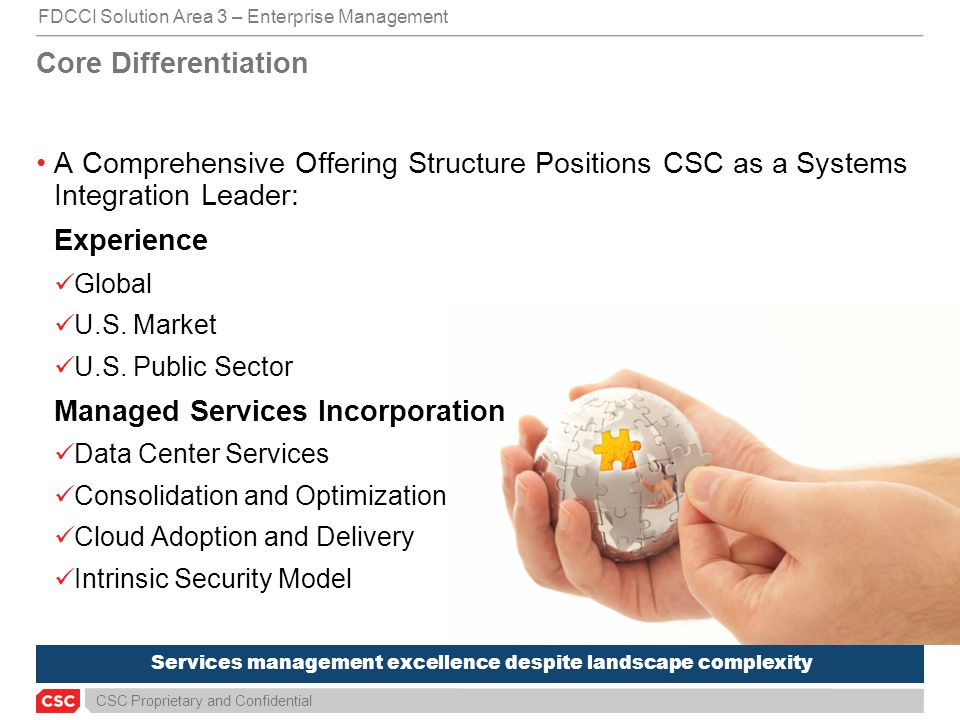 Services management excellence despite landscape complexity