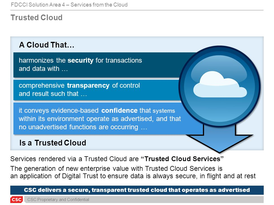 A Cloud That… Is a Trusted Cloud