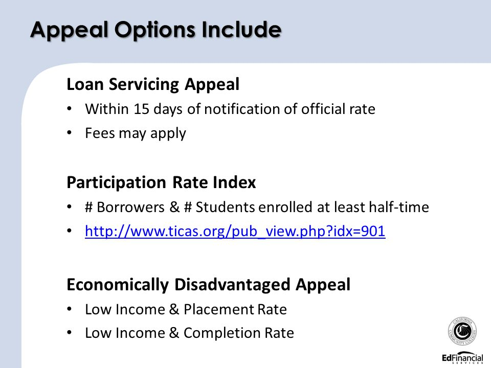 Appeal Options Include