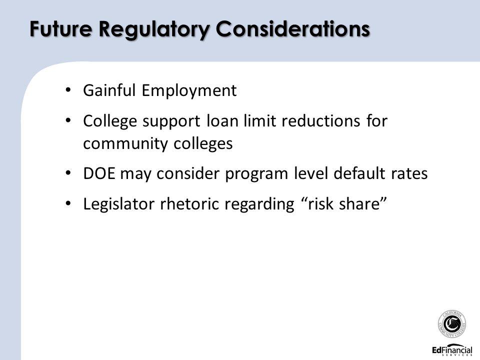 Future Regulatory Considerations