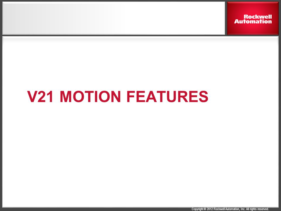 V21 Motion Features