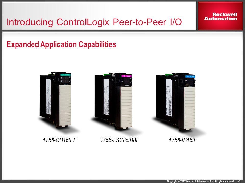 Introducing ControlLogix Peer-to-Peer I/O