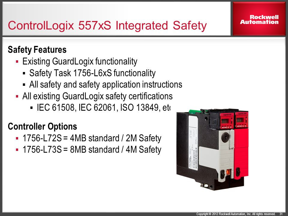 ControlLogix 557xS Integrated Safety