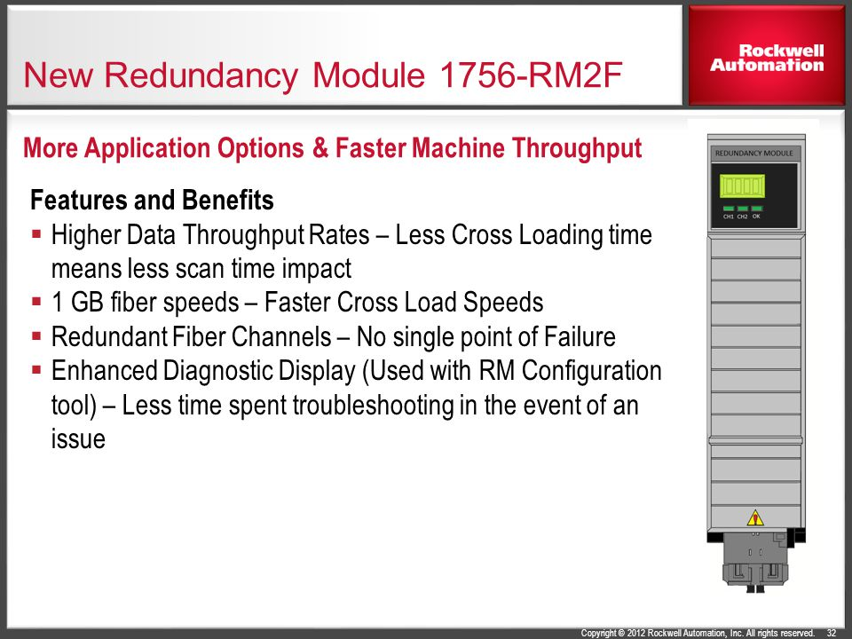 New Redundancy Module 1756-RM2F