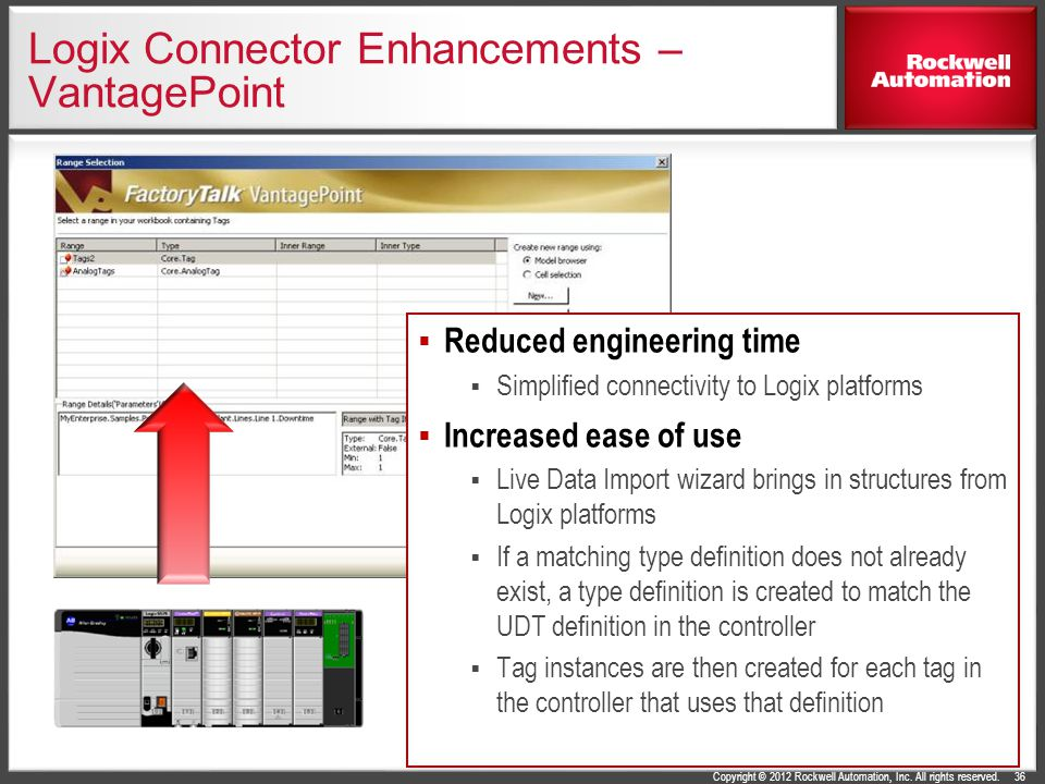 Logix Connector Enhancements – VantagePoint