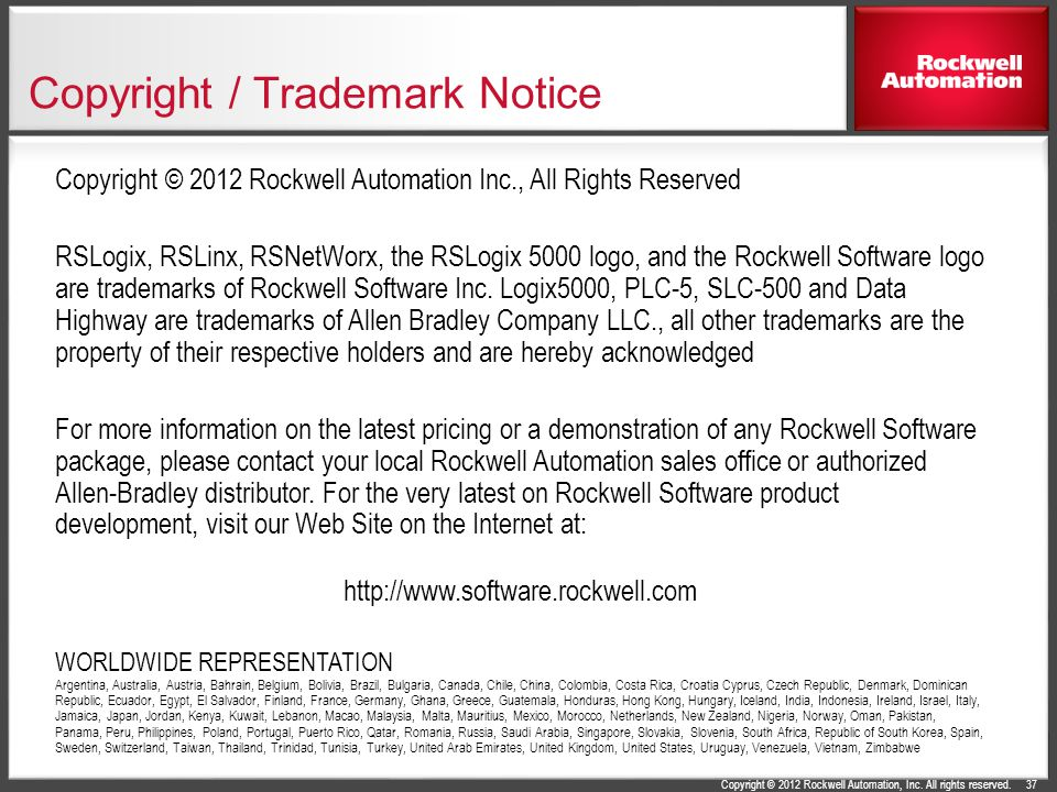 Copyright / Trademark Notice