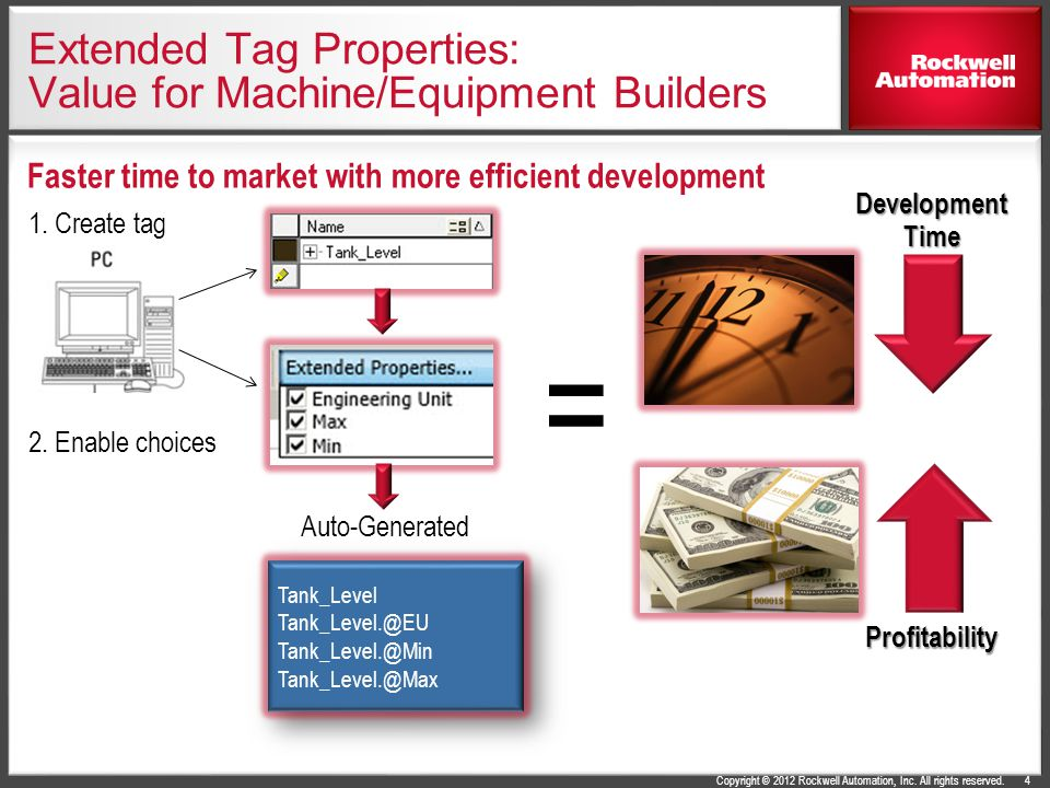 Extended Tag Properties: Value for Machine/Equipment Builders
