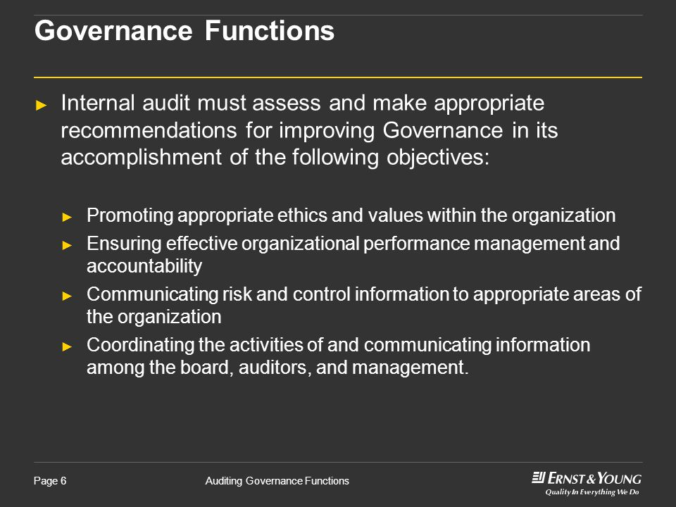 Governance Functions