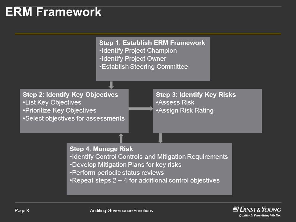 ERM Framework Step 1: Establish ERM Framework