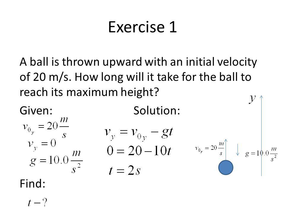 the initial velocity of the ball essay If ke = ½ mv2 and initial velocity is the physics of basketball essay examples - the physics of basketball the more and more i when the ball is in your.