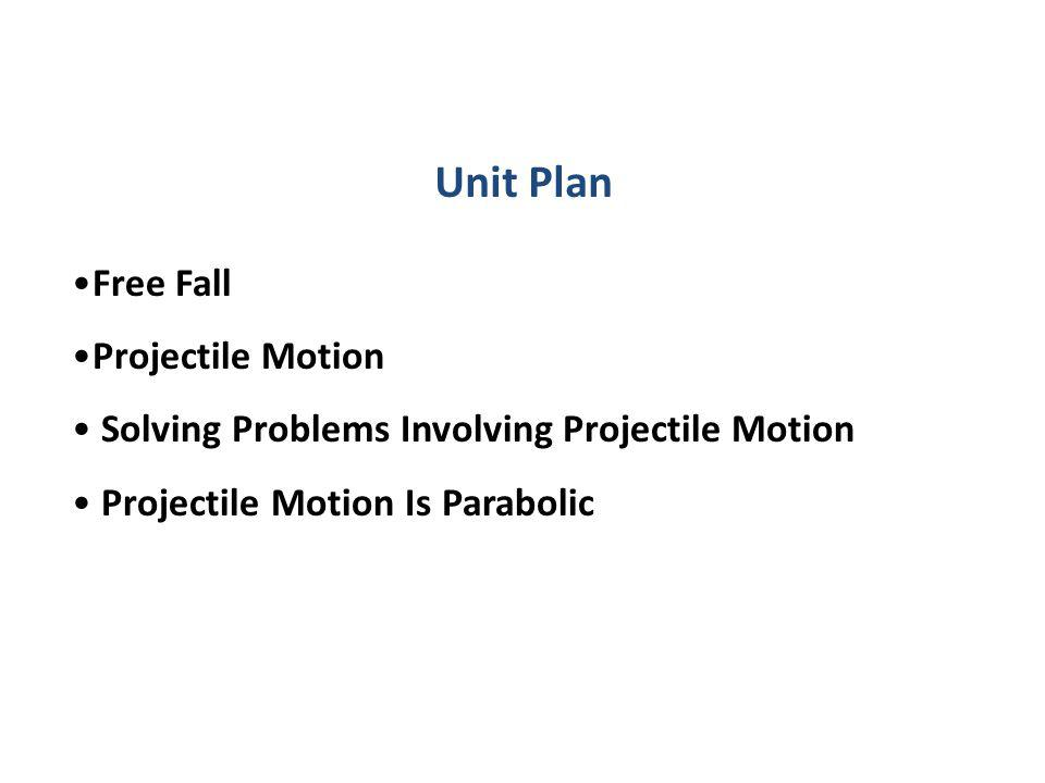 Unit Plan Free Fall Projectile Motion