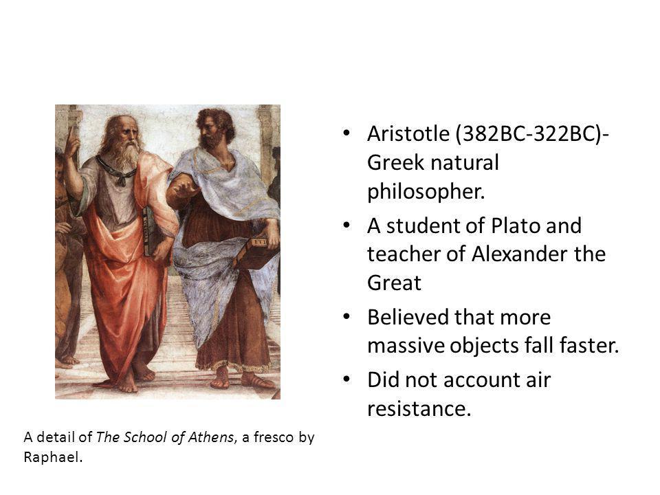 Aristotle (382BC-322BC)- Greek natural philosopher.