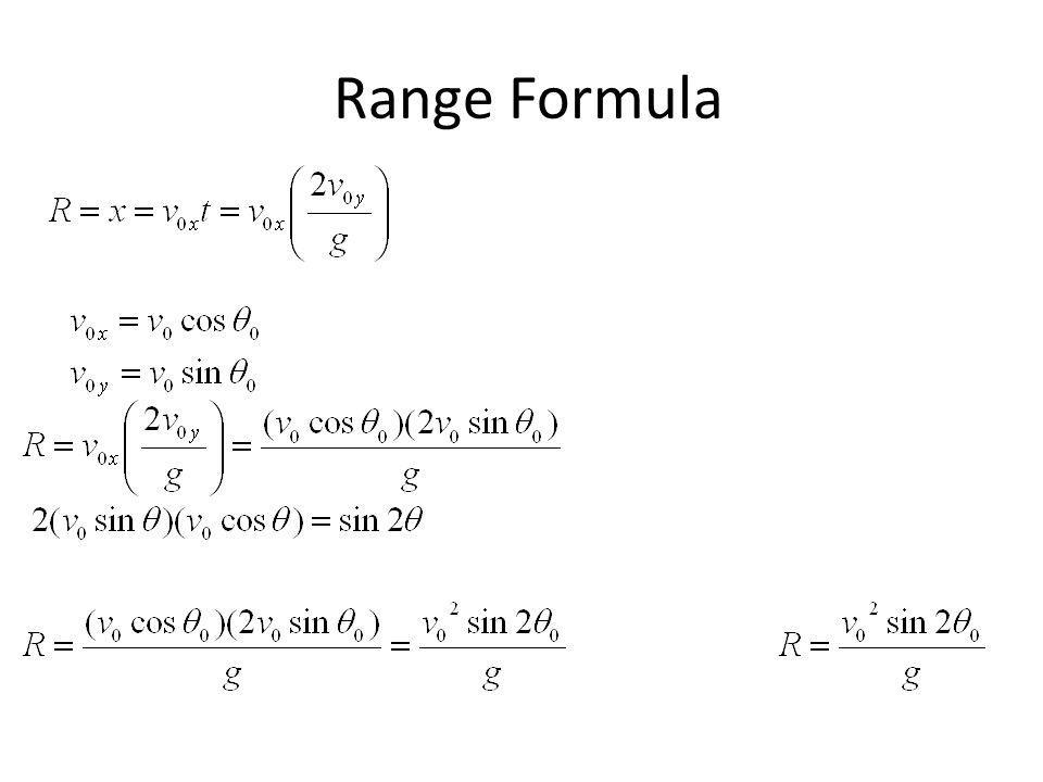 Range Formula