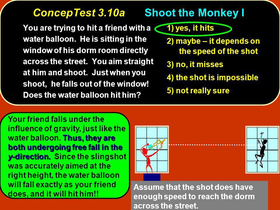 ConcepTest 3.10a Shoot the Monkey I