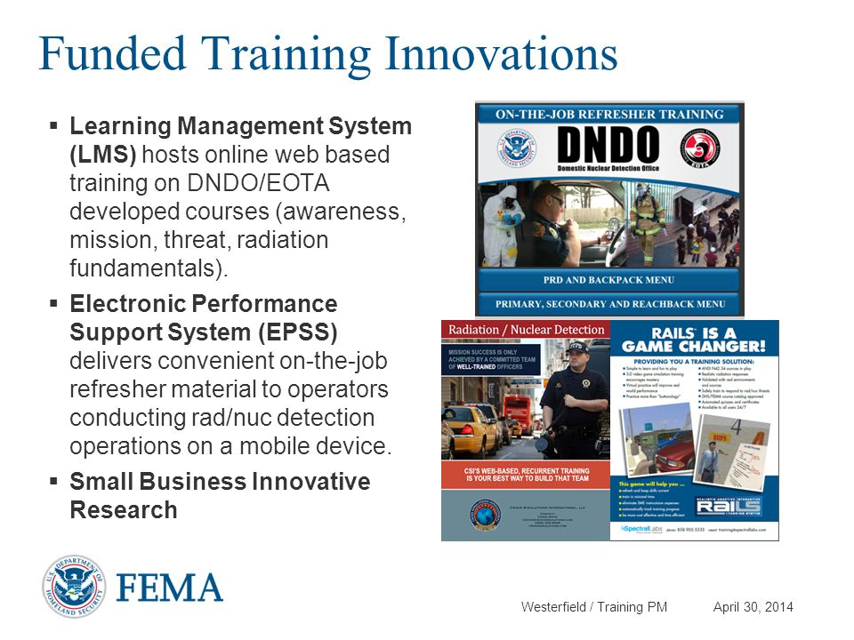 Funded Training Innovations
