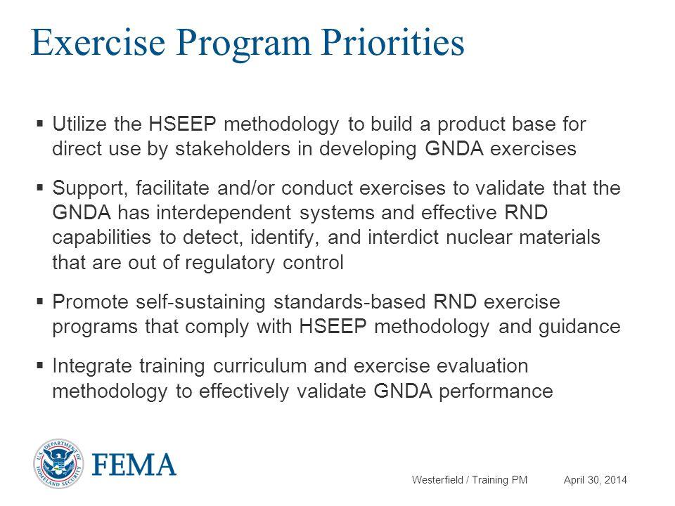 Exercise Program Priorities