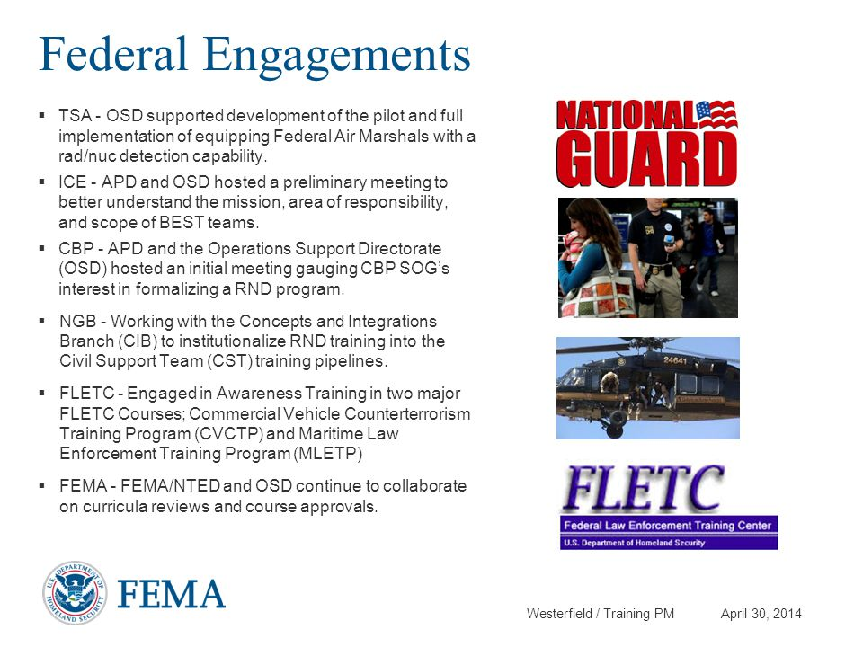Federal Engagements