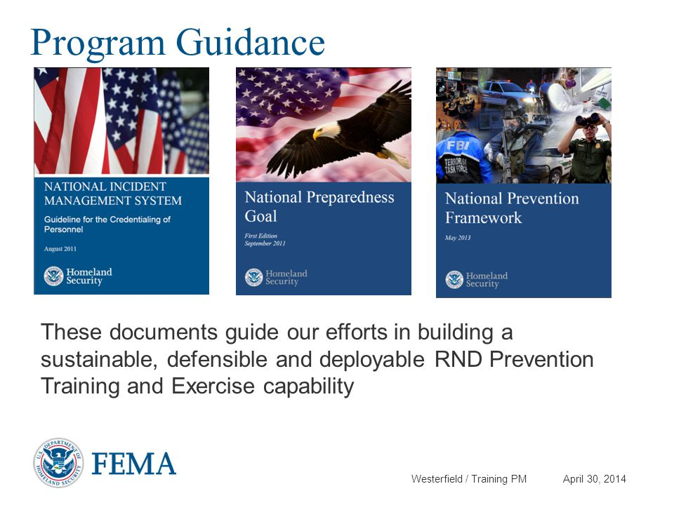 Program Guidance