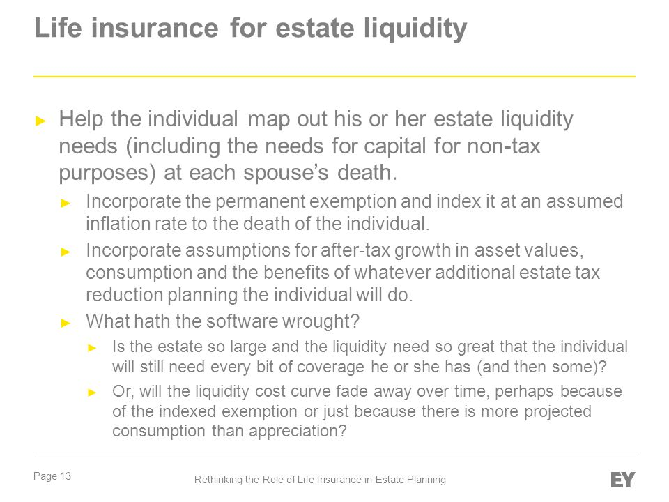 Life insurance for estate liquidity