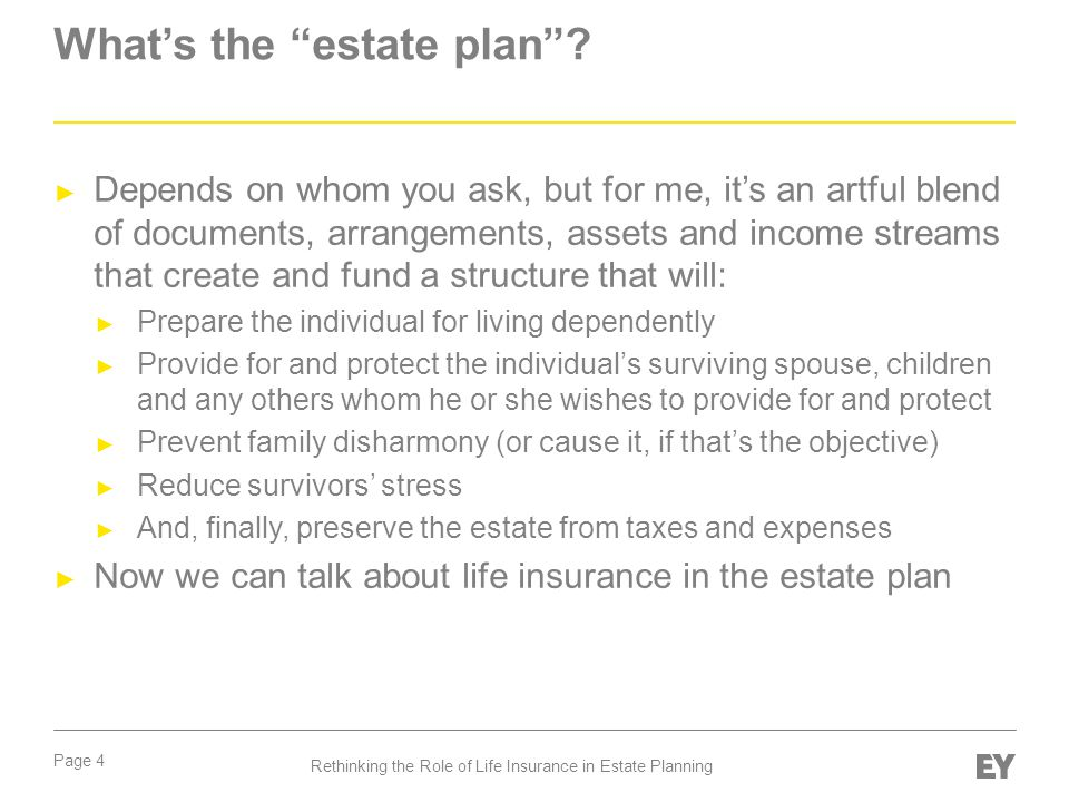 What's the estate plan