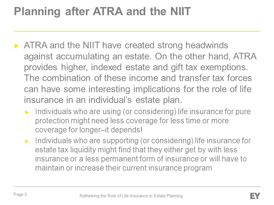 Planning after ATRA and the NIIT