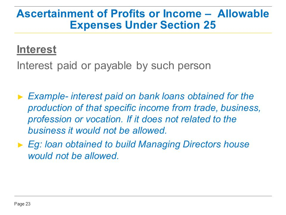 Interest paid or payable by such person