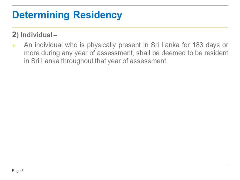 Determining Residency