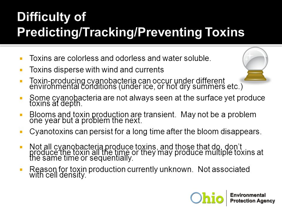 Difficulty of Predicting/Tracking/Preventing Toxins