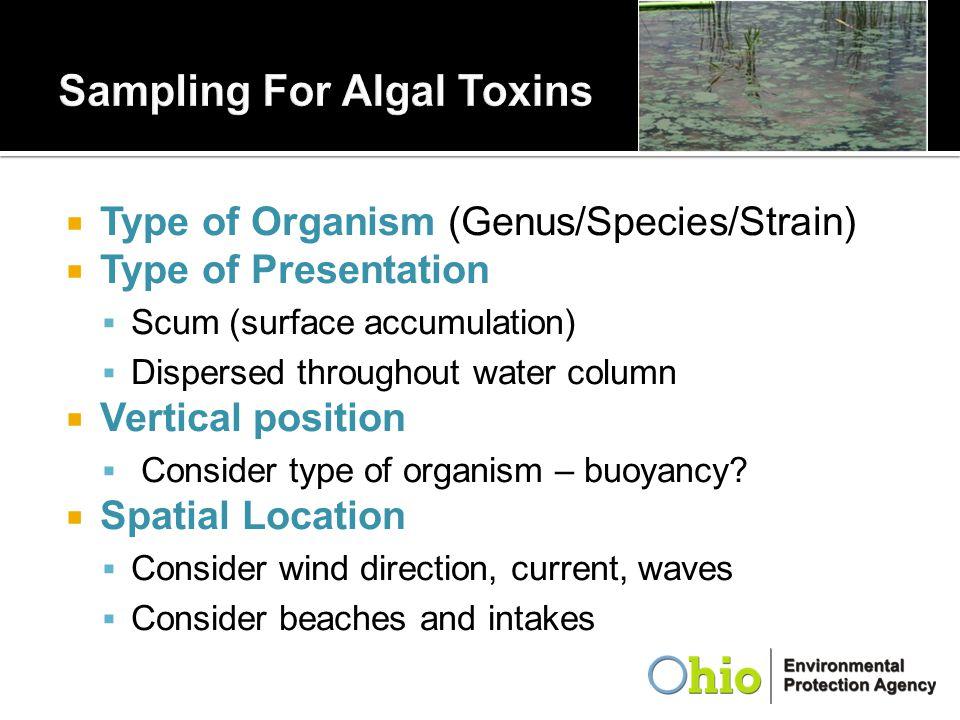 Sampling For Algal Toxins