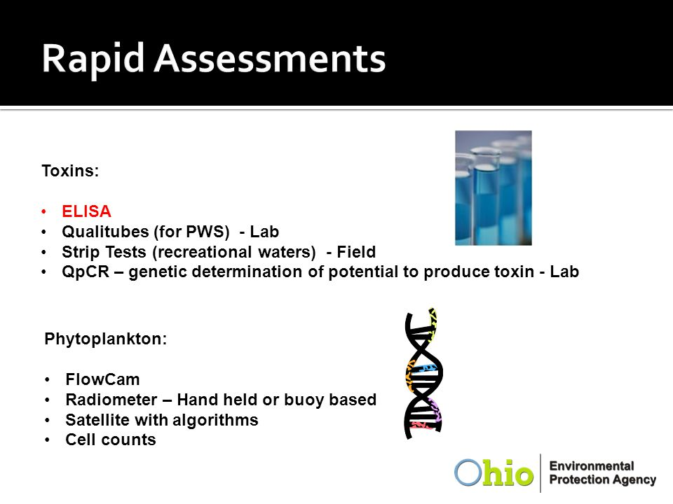 Rapid Assessments Toxins: ELISA Qualitubes (for PWS) - Lab
