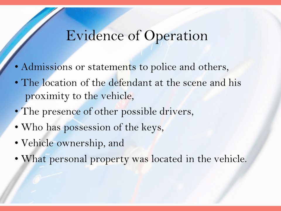 Evidence of Operation