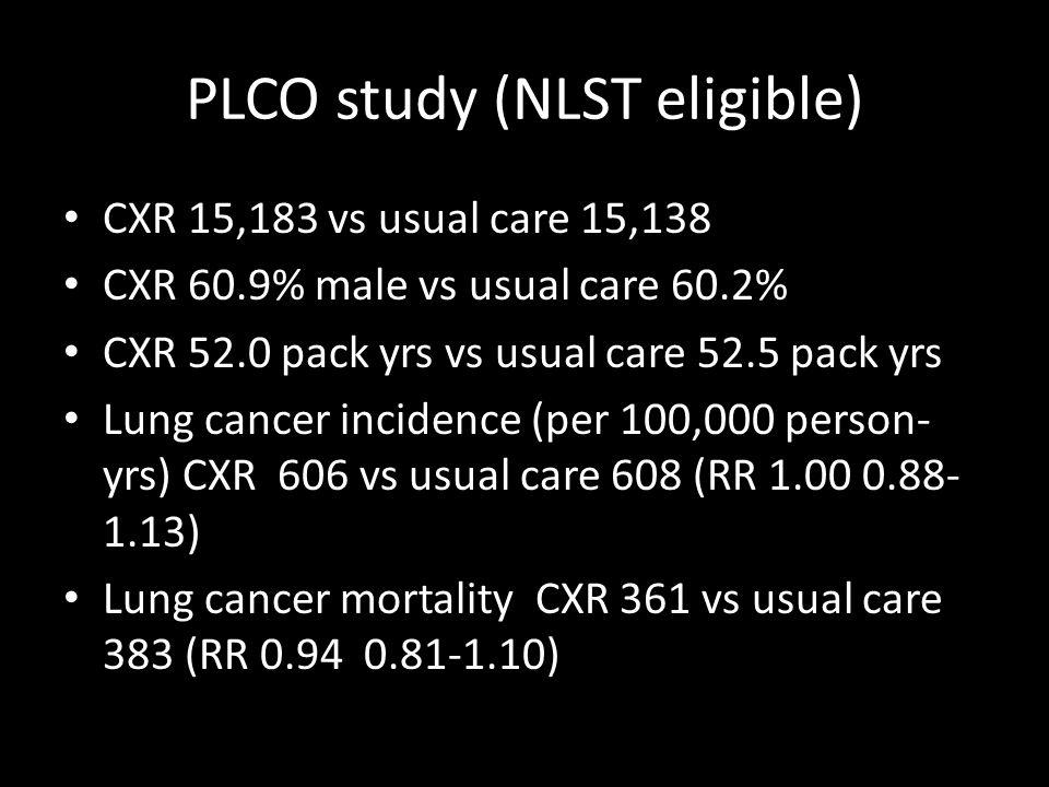 PLCO study (NLST eligible)