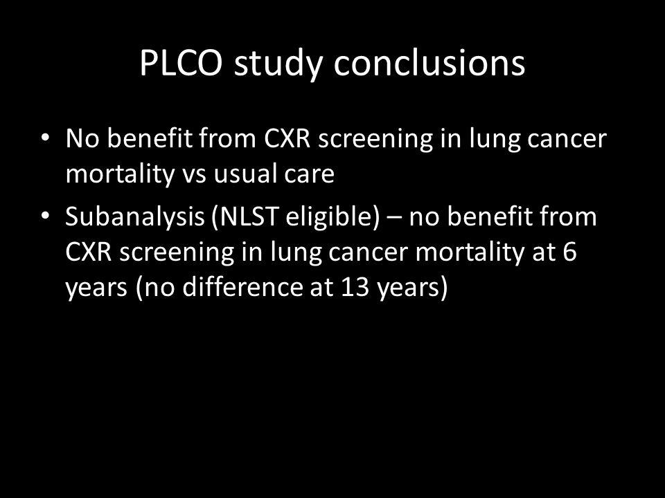 PLCO study conclusions