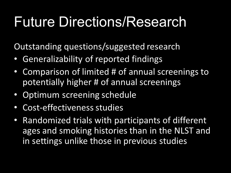 Future Directions/Research