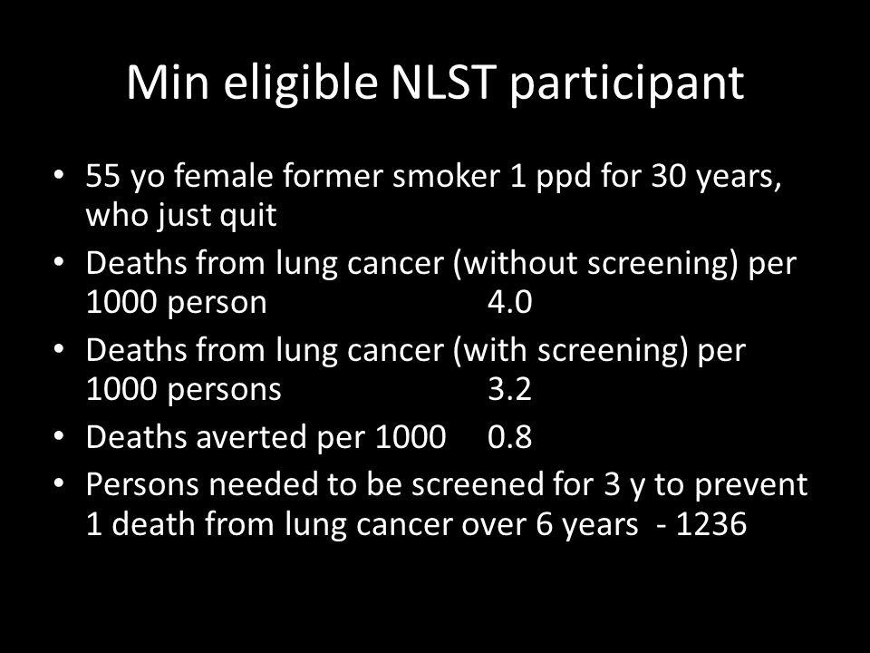 Min eligible NLST participant