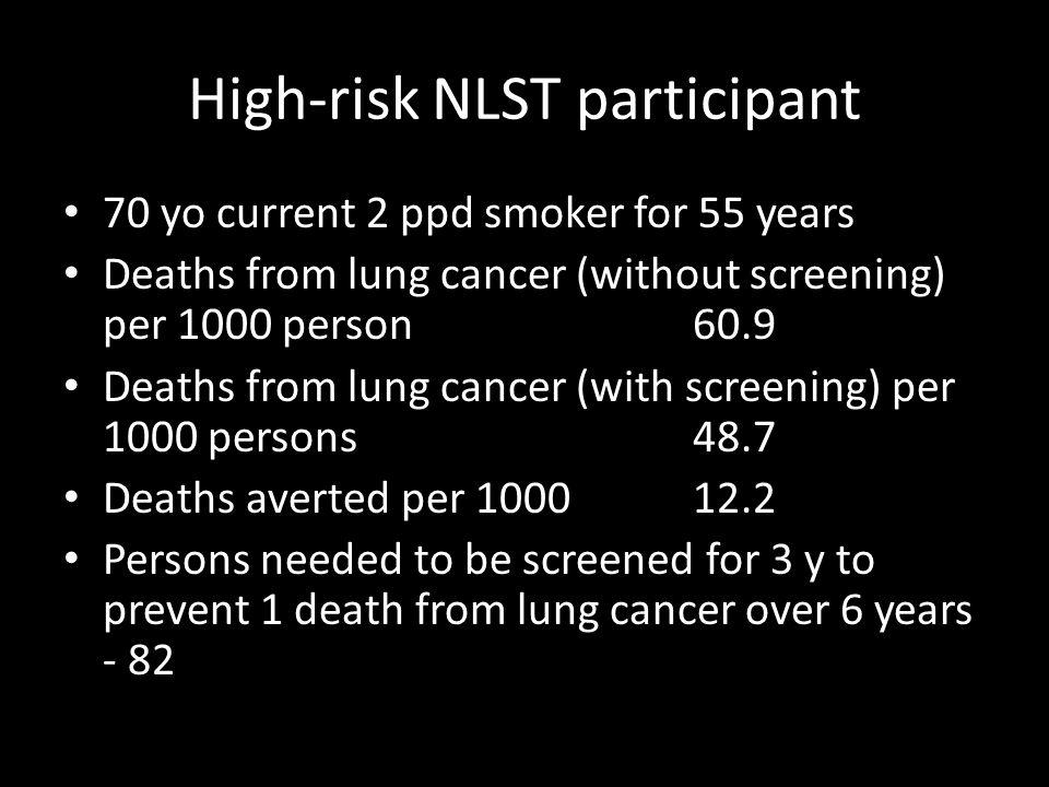 High-risk NLST participant