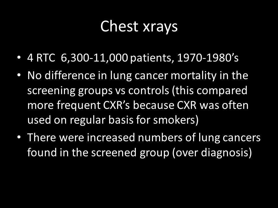 Chest xrays 4 RTC 6,300-11,000 patients, 1970-1980's