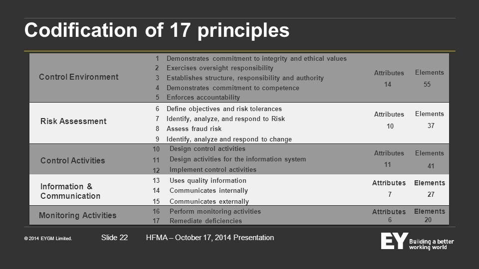 Codification of 17 principles