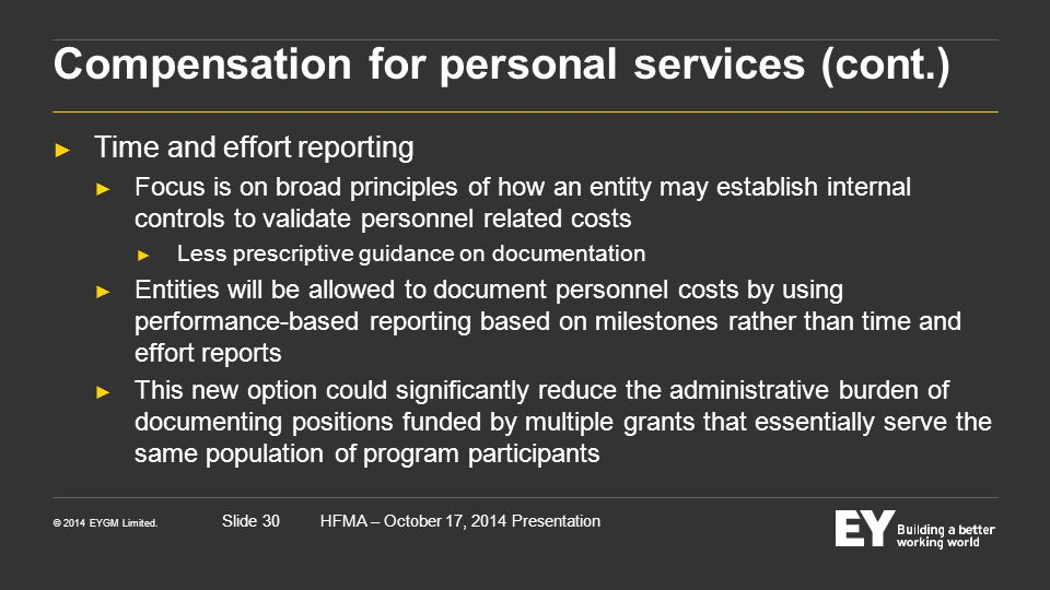 Compensation for personal services (cont.)