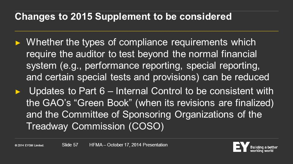 Changes to 2015 Supplement to be considered