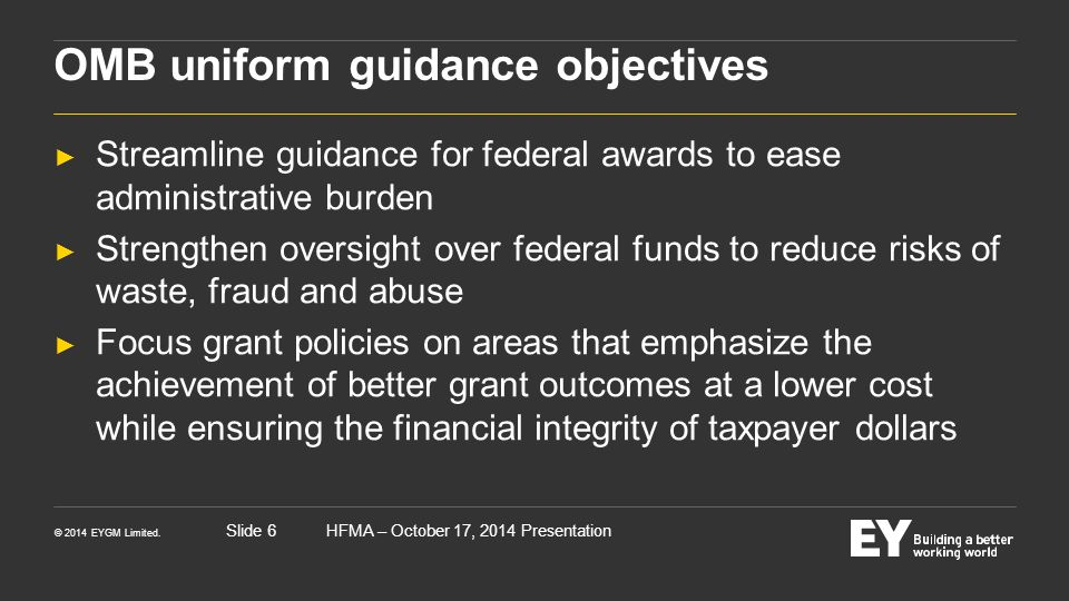 OMB uniform guidance objectives