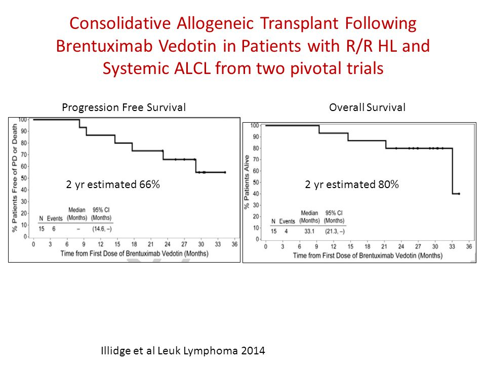 Consolidative Allogeneic Transplant Following Brentuximab Vedotin in Patients with R/R HL and Systemic ALCL from two pivotal trials