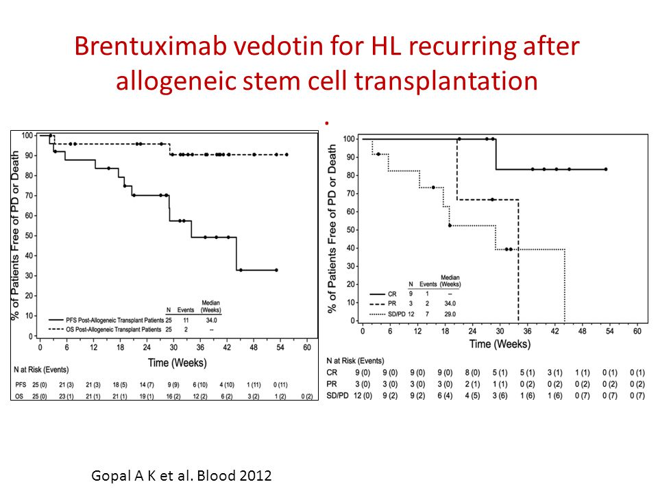 Brentuximab vedotin for HL recurring after allogeneic stem cell transplantation