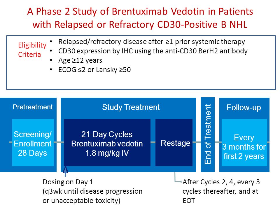 A Phase 2 Study of Brentuximab Vedotin in Patients with Relapsed or Refractory CD30-Positive B NHL