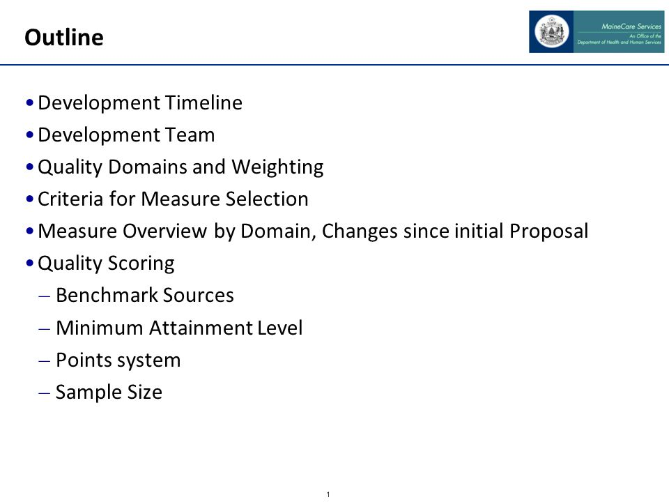 Quality Framework Development
