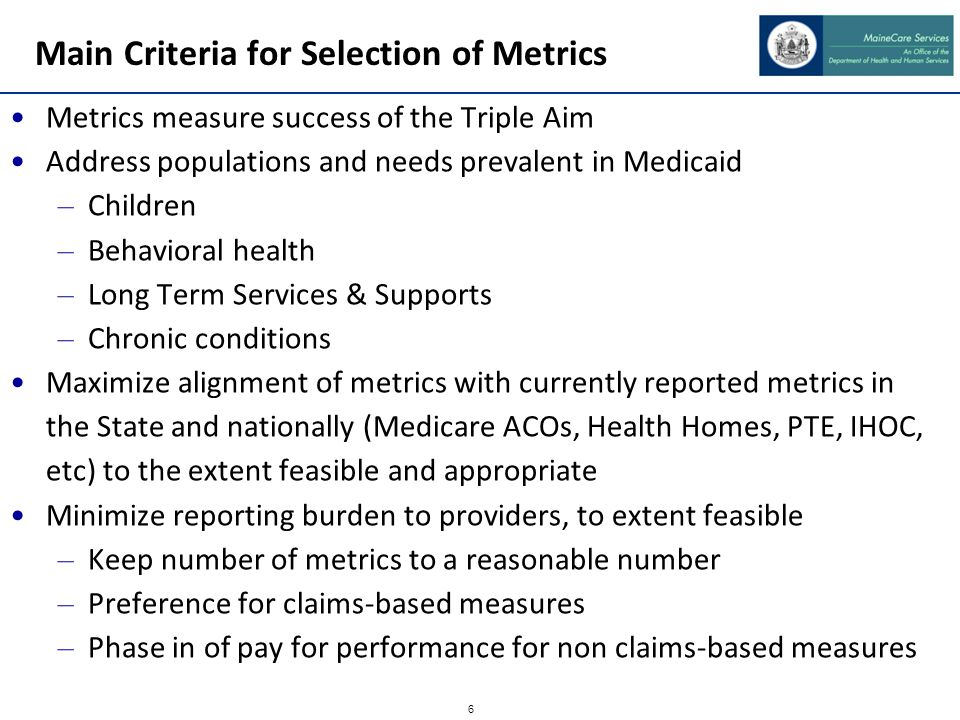 Emphasize Alignment 9 measures align with Medicare ACO